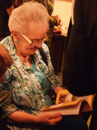 My grandmother with her book ||  photo by Jane Winkel